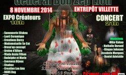 Venez nombreux au concert de General Bob Zep Lion le 8/11 à l'Entrepôt Paris 19